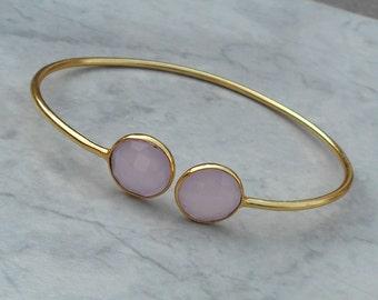 Stacking Wire Bracelet-Stia Couture Bracelets-Gold Plated Bezel Bracelet-Bezel Bracelet-Brass Bracelet-Gold vermeil cuff-Women cuff Bangle