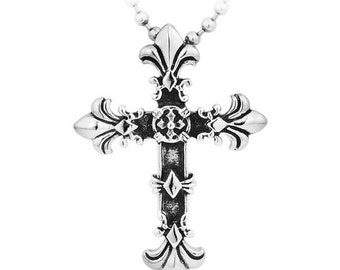 Orthodox cross stainless steel pendant for him & her