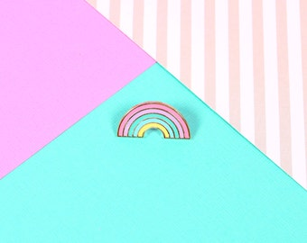 Pastel Rainbow Enamel Pin // lapel pin, hard enamel pin// EP151