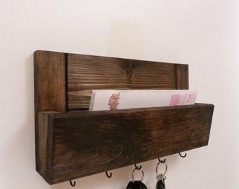 Mail Box Organizer, Mail Rack, Entryway Organizer, Key Rack, Mail Box, Key Holder, Expresso