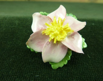 Vintage Coalbrook  china pink  flower in a box