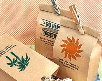 50 - Personalized Kraft Favor Bags - Eco Friendly Wedding - Shower - Baptism - Baby Party Favor - 8859000