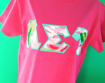 Lilly Pulitzer sorority Letter Shirts