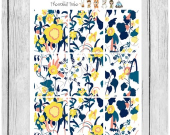 Wallpaper Stickers - Fields of Flowers - planner stickers - #freestyleplanning