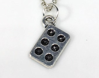 Muffin Tin Necklace, Cupcake Mold, Baking Jewelry, Baker Gifts, Culinary Student Jewelry, Silver Baking Charm Initial Birthstone Pewter