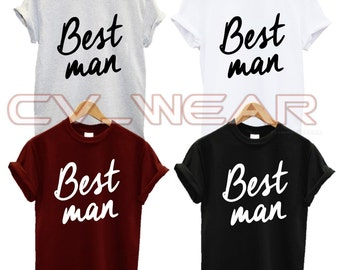 best man t shirt fashion hubby wedding marriage husband tumblr quote slogan swag dope gift present christmas xmas  unisex