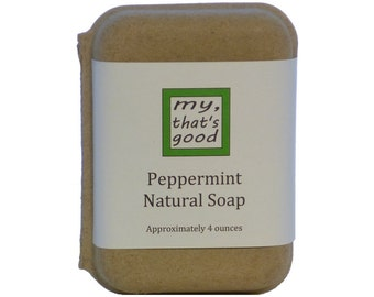 Sale! Peppermint Soap, Natural, Handmade, and Vegan