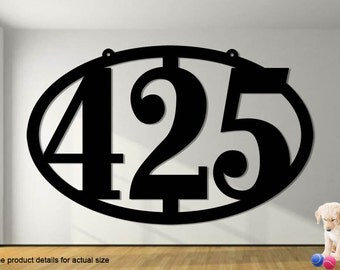 Simple elegant oval address sign 16 1 4 x 7 1 2 large house for Minimalist house numbers