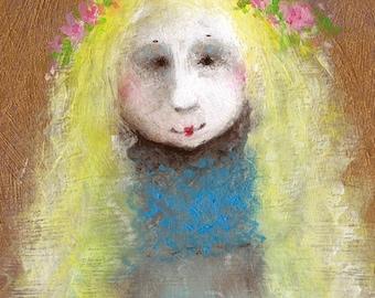 Kids Whimsy Art - Original Acrylic Painting - Whimsical Art - Nursery Art - Canvas Wall Art - Kids Paintings - Fantasy Art - Nursery Decor