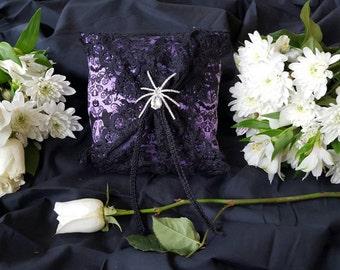 Halloween ring bearer pillow, Haunted Mansion ring bearer pillow,  Halloween wedding, purple and black ring bearer pillow, disney wedding