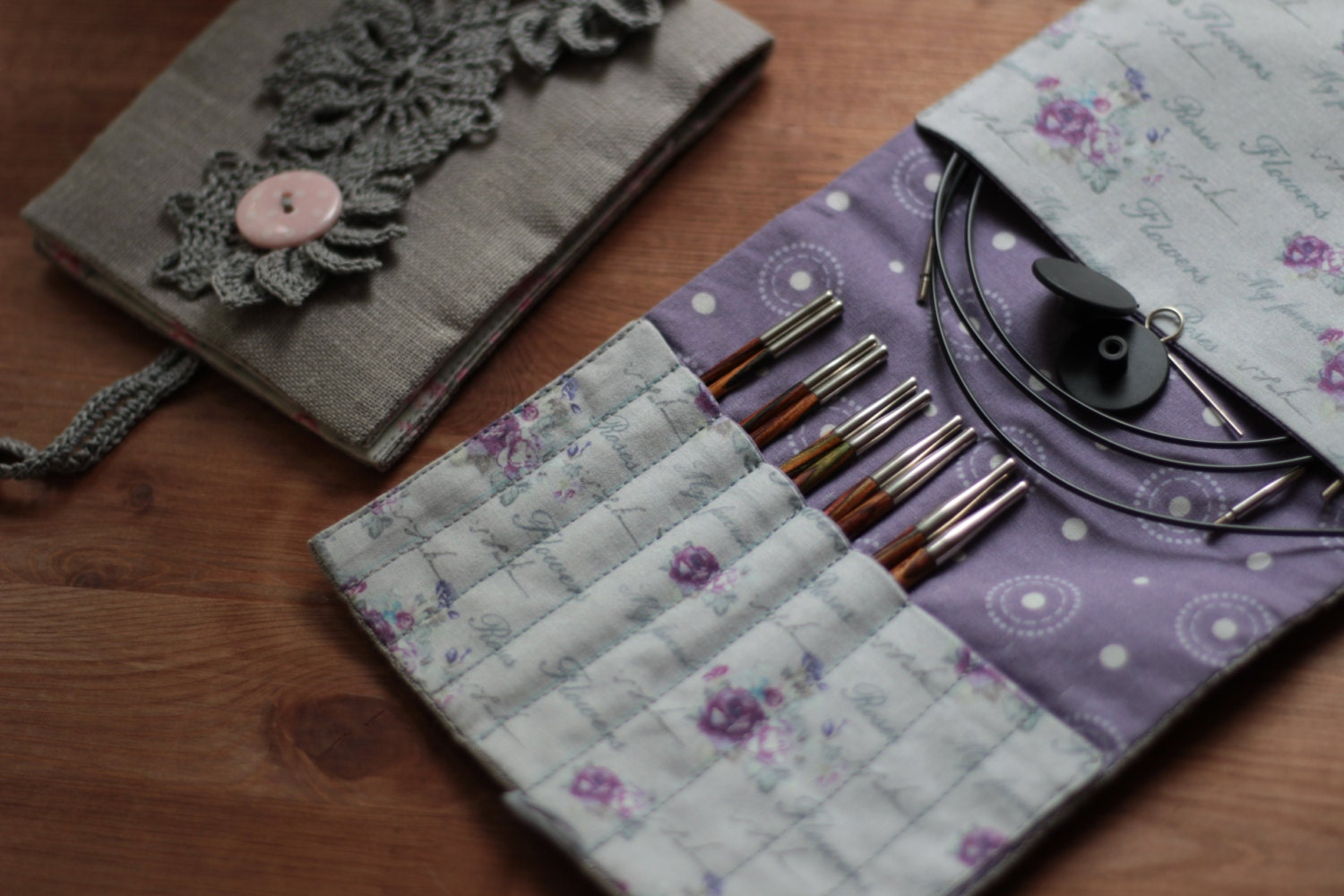 Interchangeable Knitting Needle Case Sewing Pattern : DIY PDF Sewing Pattern & photo tutorial Interchangeable needles case Circ...