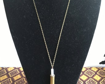 Rhondite Bullet Shell Necklace