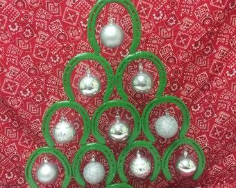 Horseshoe(Authentic) Christmas Tree, John Deere Green