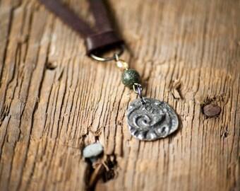 Handmade silver stamped choker