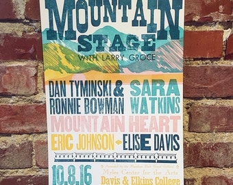 10/8/16 Mountain Stage Letterpress Poster