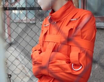 Orange Inmate Straitjacket - Restraining straitjacket for Inmates and Prisoners