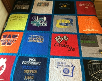 Double Sided Custom Made Tshirt Quilt  (DEPOSIT)