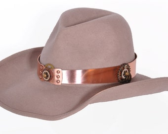 Hat Bands - Copper, Steampunk or Western