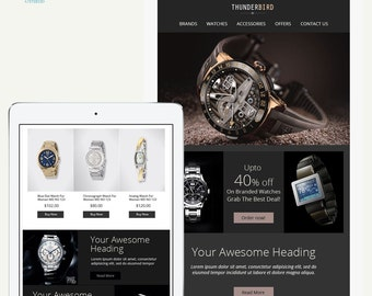 Ultra Responsive and Sales Email Template, Sales Responsive HTML email, Newsletter Template, Unique template design