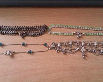 4 ankle bracelets 2 need repair