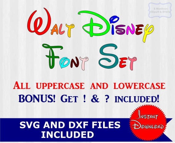 Disney font svg Disney text Disney font design by 5StarClipart