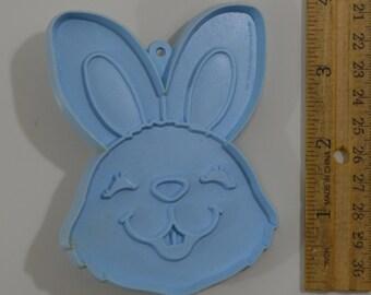 "Vintage HALLMARK EASTER BUNNY Cookie Cutter | 1980 3 7/8"" Blue"