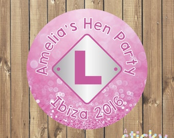 Personalized Hen Party Stickers, Bachelorette Party Stickers, Hen's Day Stickers, Bachelorette Party Labels, Hen Party Favours, Custom Label
