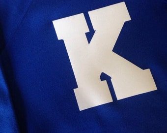 """Royal Blue Sweatshirt with """"K"""" in White"""