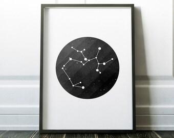Sagittarius Zodiac Sign Print - Zodiac Sagittarius - Sagittarius Constellation - Stars Constellation Print  - Zodiac Sign - Zodiac Print