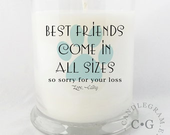 Soy Candle, 10oz by CandleGram....loss of a pet, in memory, sorry for your loss.