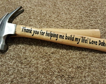 Personalized Father's Day Gift/Personalized Anniversary Gift/Personalized Hammer Gift