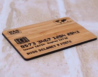 Pretend Play Credit Card