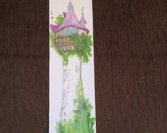 Tangled inspired tower bookmark