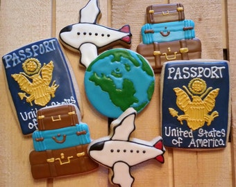 Travel cookies - Foreign Exchange Student Cookies - 1 Dozen