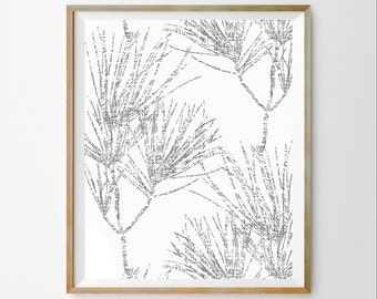 White minimalist art White nature art White tree art print White tree wall art White modern decor White modern art White bedroom Wall decor