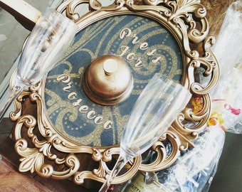 Prosecco sign, christmas gift, Prosecco princess, Mechanical, functional, frame! Gorgeous, ornate, vintage style, bar, restaurant, frame!