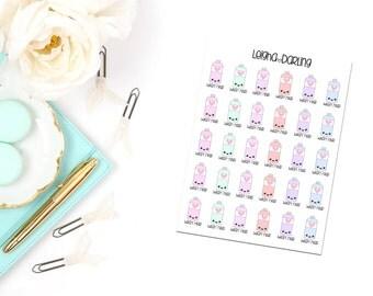 Kawaii Wash Hair/Shampoo Bottle Planner Stickers