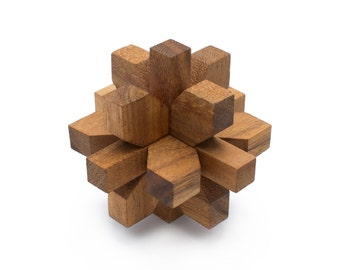 Wooden Toy : Dahlia - The Organic Natural Puzzle Game Play for Baby and Kids