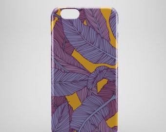 Banana Leaves Print iPhone 6 Case, iPhone 6 Plus Case, iPhone 5 Case, iPhone 5S Case, iPhone 5C Case, floral iPhone, flower, iPhone SE case