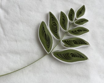 Set of 3 Quilled Leaves