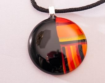 "Fire Glass 1"" Pendant"