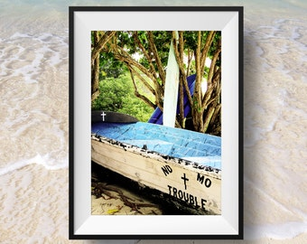 Rustic Boat, Ocean beach decor, nautical decor, boat, beach house home decor, shabby chic, Instant Download, Digital Download