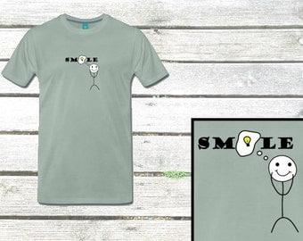 """Men T-Shirt """"Smile"""""""