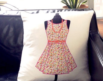 Whimsical 'Her Dress' cushion cover