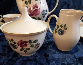 Gorgeous Coffee-tea set 2 pieces made in Czechoslovakia