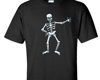 Halloween Skeleton T Shirt for kids. Glows in the dark!