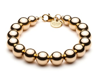 Ball bracelet • 10 mm • gold