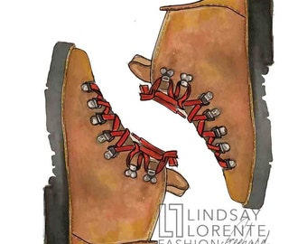 Fashion Illustration - Danner Hiking boots