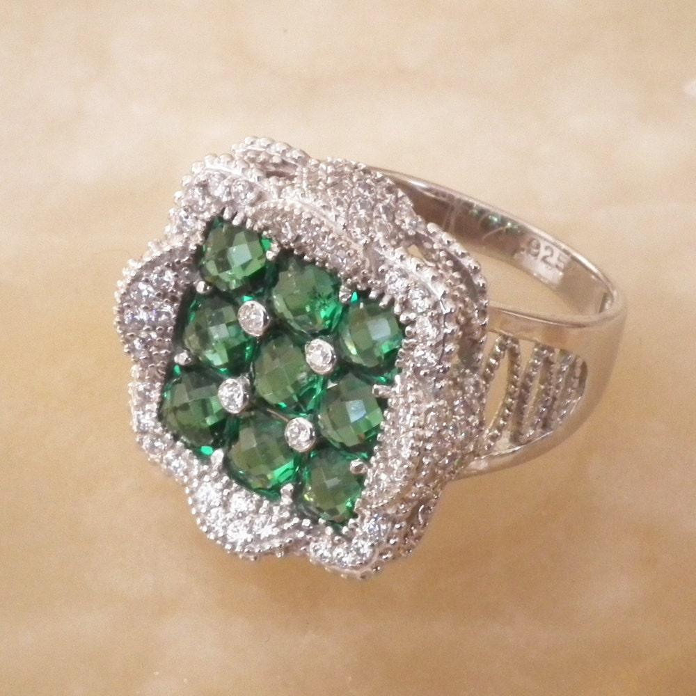 green gemstone rings emerald rings square emerald rings