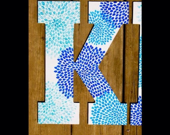 Wood painted letter